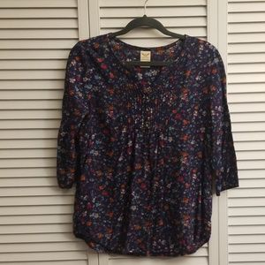 Floral Faded Glory Peasant Style Top